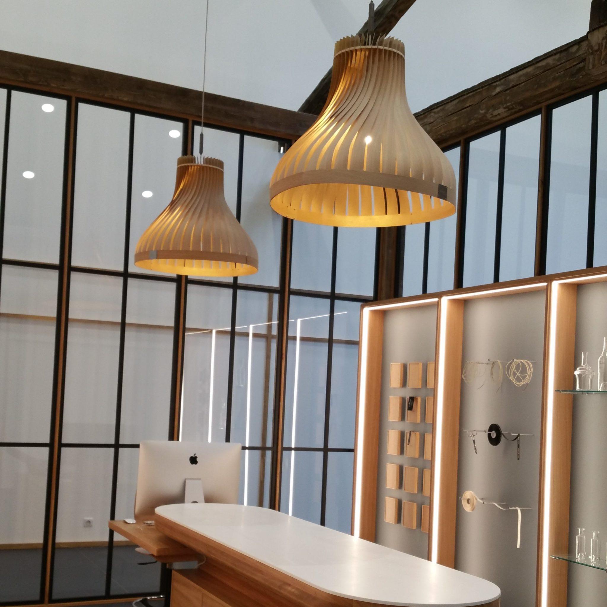 «atelier rarissimes», lampe cognac camus / volupte XL